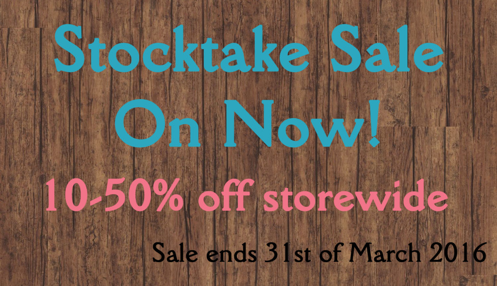 2016 Stocktake Sale